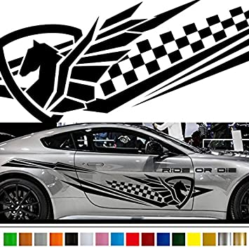 Amazon com pegasus car sticker car vinyl side graphics wa47 car vinylgraphic car custom stickers decals 【8 colors to choose from】 japan quality fast and