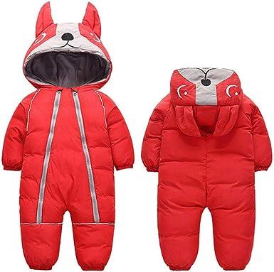 ALLAIBB Baby Newborn Snowsuit Onesie Winter Coat Romper for Infant Girls Boys