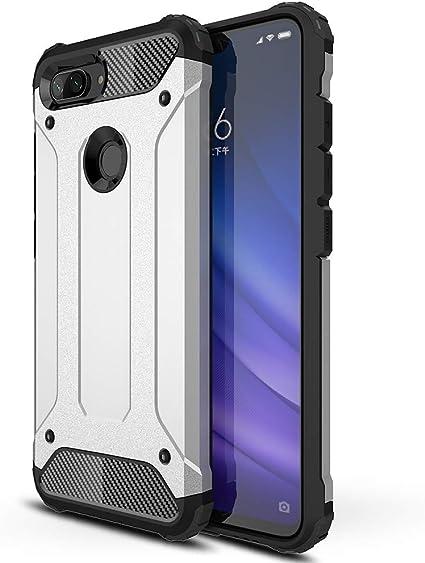 Eabhulie Xiaomi Mi 8 Lite Funda, Dual Layer TPU + PC Híbrida ...