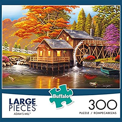 Buffalo Games - Adam's Mill - 300 Large Piece Jigsaw Puzzle: Toys & Games