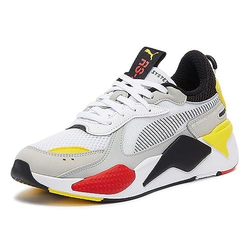 Vibrar En consecuencia Pronombre  Buy PUMA RS-X Toys Mens White/Black/Yellow Sneakers-UK 11 / EU 46 at  Amazon.in