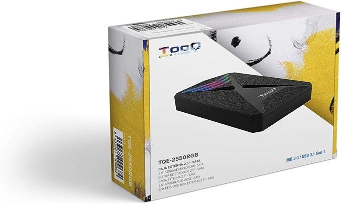 TooQ TQE-2550RGB - Carcasa para Discos Duros HDD de 2.5
