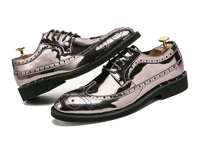 MYI Hommes D'affaires Chaussures Casual Conduite Chaussures Formelles Chaussures Oxfords Lace-up de Mariage Casual Printemps Automne Bureau (Couleur : Or, Taille : 43)