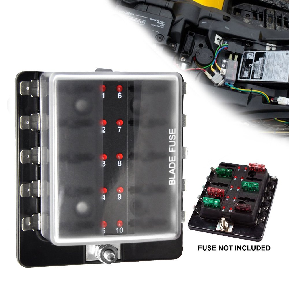 61YSdzi6r L._SL1001_ amazon com fuses fuses & accessories automotive 10 amp fuse box at gsmportal.co