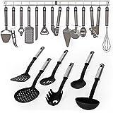 TecTake Attrezzi per cucina in acciaio inox set con 19 parti utensili posate cucchiaio