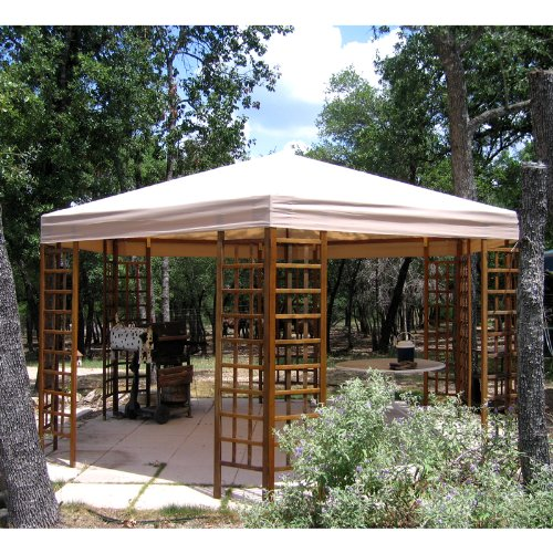 Wood Heaxgon Gazebo Replacement Canopy – RipLock 500 Review