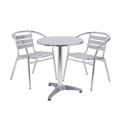 Fantastic Nice Cafe Round Aluminium Bistro Set Short Links Chair Design For Home Short Linksinfo