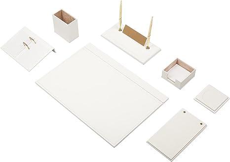 Mira 9 piezas vade Juego de escritorio de piel sintética de alta ...