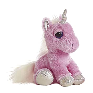 Dreamy Eyes - Unicornio de peluche, 30 cm, color rosa (Aurora World 21247