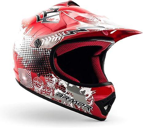 L DOT Schnellverschluss Tasche ARMOR Helmets AKC-49 Kinder-Cross-Helm 57-58cm Titan