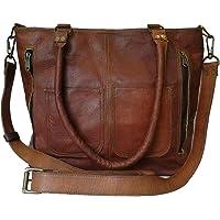 Madosh, Women's Shoulder Tote Genuine Leather Shopping Handbag Vintage Cross Body Purse Handbag