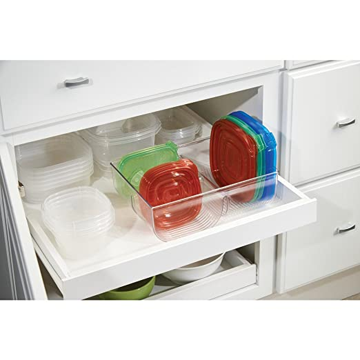 Amazon interdesign linus lid organizer for kitchen cabinet amazon interdesign linus lid organizer for kitchen cabinet pantry storage clear home kitchen workwithnaturefo