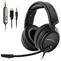 V20 Xbox one Gaming Headset,Stereo Surrounding Sound Headphones with Microphone LED Light Earphones for Computer/PC/PS4/Mobile - Jeecoo