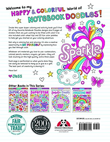 Notebook Doodles Super Duper Coloring Activity Book With Color Your Own Stickers