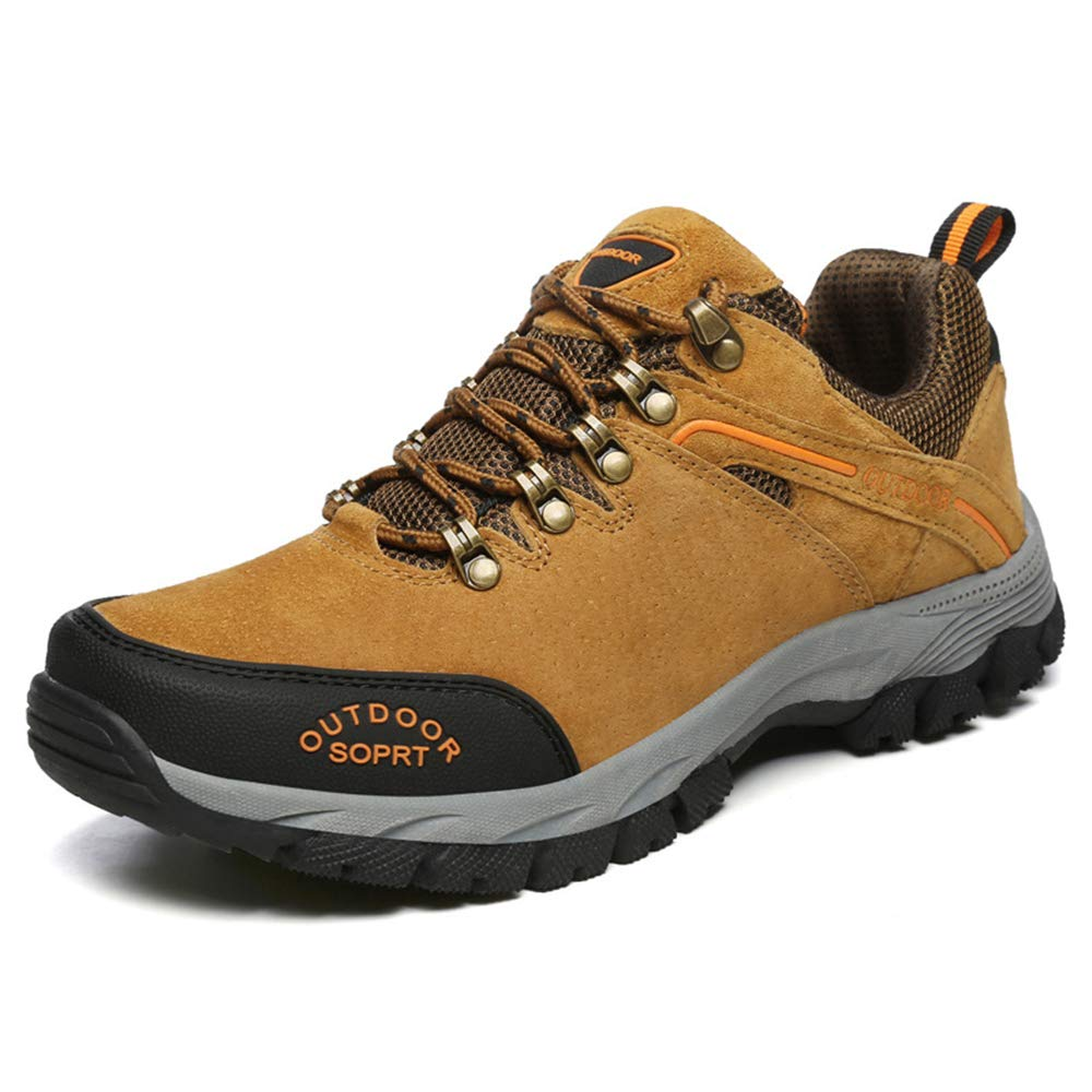 Yellow 43 9 D(M) US Men Men's Hiking shoes Low Snow Leather Hiking Walking shoes