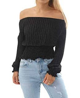 Womens Ladies Pleated Chiffon Off Shoulder Bardot Frill Ruffle Detail Top Shirt