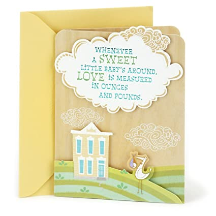Amazon hallmark baby shower greeting card stork and house hallmark baby shower greeting card stork and house m4hsunfo