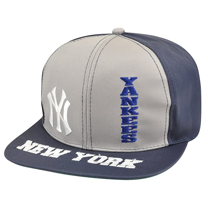 Gorra de la liga York Yankees plano Bill gorra New Old School ...