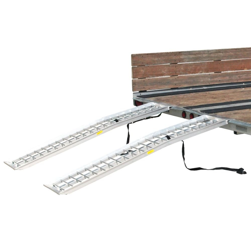 Rage Powersports 95'' Aluminum Non-Folding Arched Lawn & Garden Equipment Loading Ramps by Rage Powersports (Image #5)