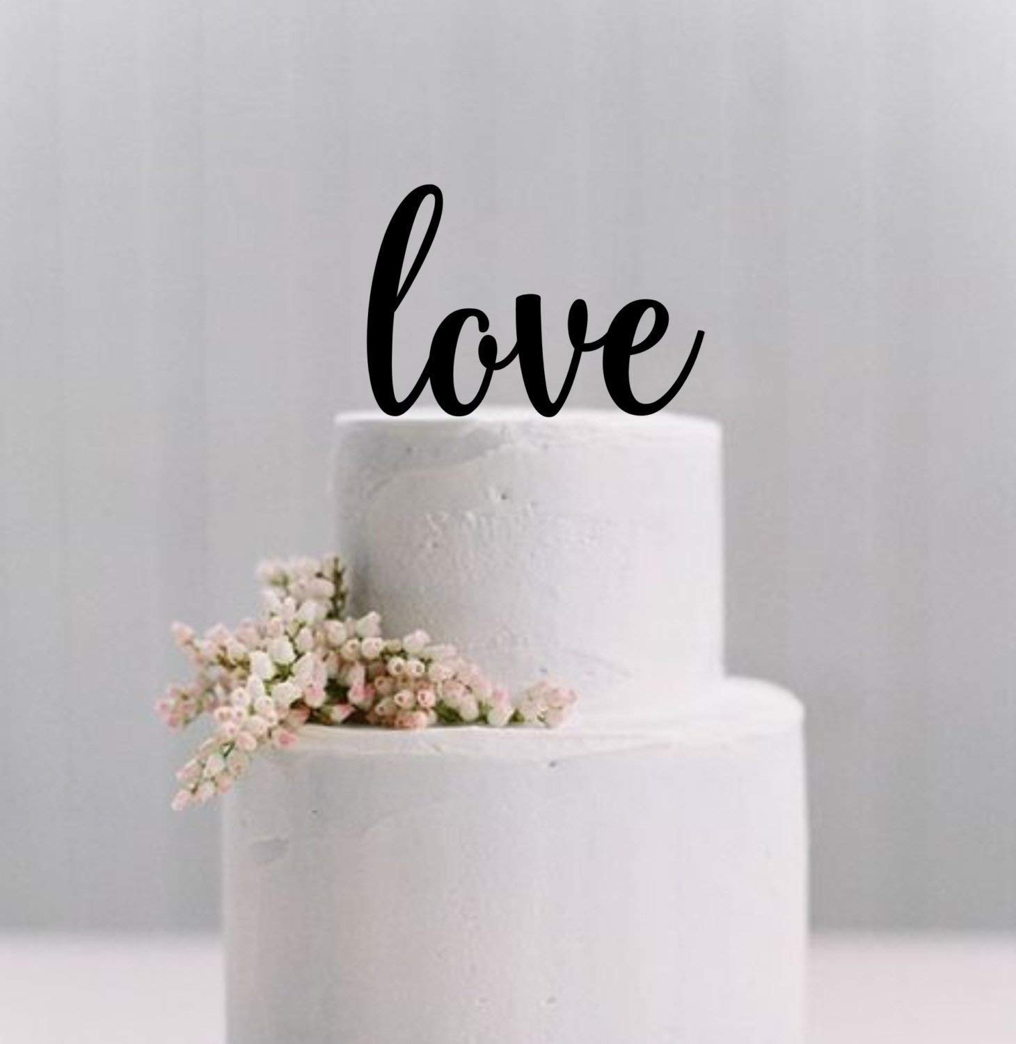 Wedding Cake Topper Love Cake Topper Simple Elegant Cake Topper Wedding Cake Decoration Amazon Co Uk Handmade