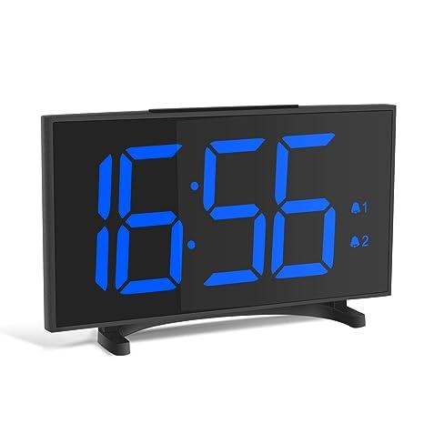 YISSVIC Despertador Digital Reloj Despertador Ultra Delgado con 6,5 Gran Pantalla LED Equipado con