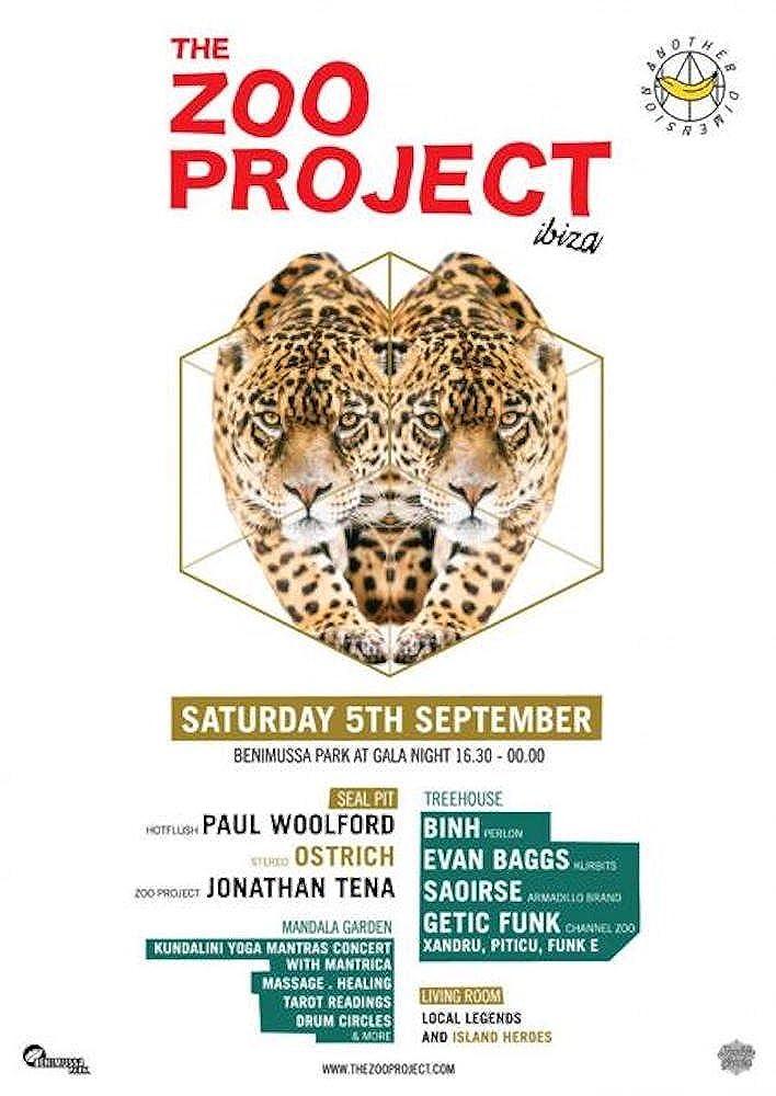 Zoo Project Ibiza Poster 5 de Septiembre 2015 - Blanco, 40cm ...