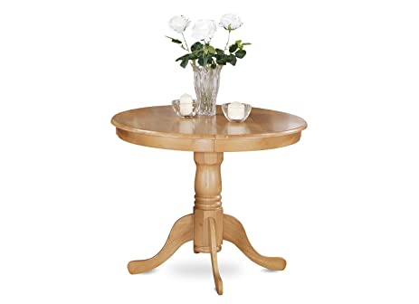 East West Furniture ANT OAK T Round Table, 36 Inch, Oak