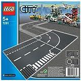 レゴ シティ ロードプレート T字路+カーブ(2枚入り) 7281
