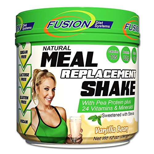 Fusion Plant Based Vegan Meal Replacement Protein Powder – Vanilla Bean Flavor, Best Pure Raw Complete Sports Performance Shake, Gluten-Free, Sugar-Free, 10 Servings, by Fusion Diet Systems by Fusion Diet Systems