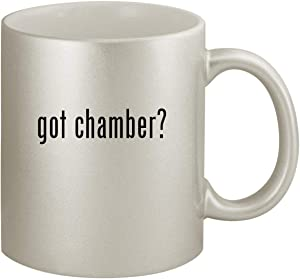 got chamber? - Ceramic 11oz Silver Coffee Mug, Silver