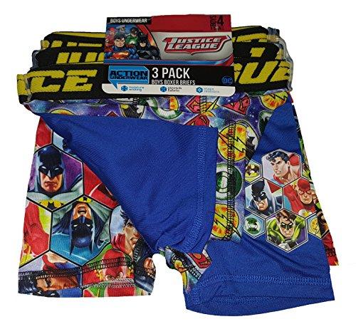 DC Comics Justice League Action Underwear 3 Pack Boxer Briefs - ()
