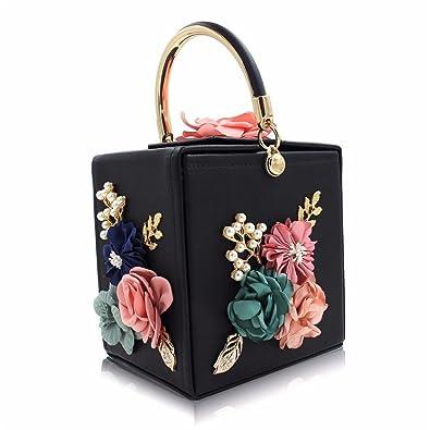 6770bf280bc8 Women Evening Bag Ladies Flower Wedding Clutches Female Pink Black ...