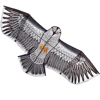 XIAOMEI Adulto Grande Acciaio Eagle Golden Eagle Breeze Facile da Volare Bambini Aquilone Adulto ( Color : Silver , Size : L-2.4 )