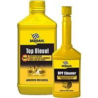 Bardahl - Limpiador de inyectores Top Diesel de 1 litro y limpiador DPF de 250ml, aditivo diésel y limpiador de filtro de partículas FAP
