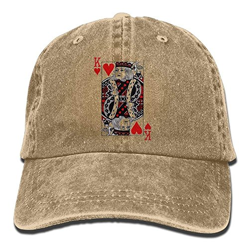 QianYuanDi King Hearts Denim Hat Adjustable Men's Snapback Baseball ()