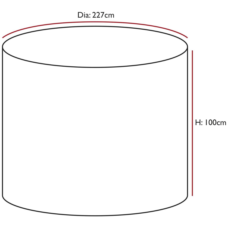 Oxbridge - Abdeckplane für Gartenmöbel - wasserdicht - - - grau - groß & rund - 5 Jahre Garantie 199c7e