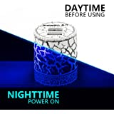 momen LED Dual USB Glow Wall Charger with Blue Night Light 5V2A -Cute Wall Charger Station Power Adapter with Foldable Travel Home Plug for iPhone x/8/7/Plus, Samsung Galaxy s8/7/6, Note 8/7, PS4