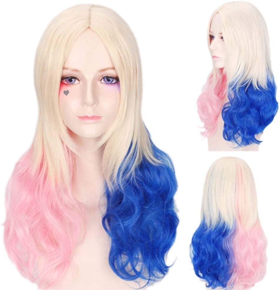 BKKENIDN Pelucas De Anime Polvo Color Azul Degradado Pelo ...