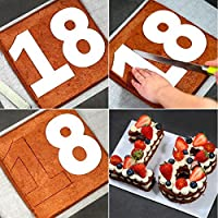 Wuudi Moldes para Tartas, Diseño de Número significativo, Molde para Repostería para Cumpleaños,
