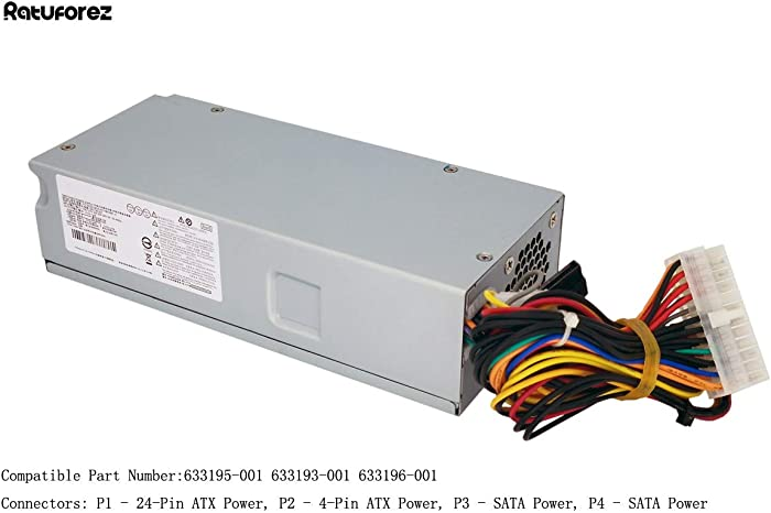 220W Power Supply Unit for HP Pavilion Slimline S5 S5-1xxx TouchSmart 310-1205la Desktop PC, 633195-001 633193-001 633196-001,PCA222 PCA322 FH-ZD221MGR