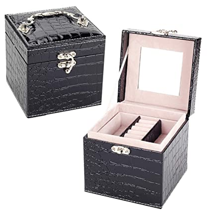 Amazon com: GONGYU Jewelry Box, Jewelry Box with Lock, Ring
