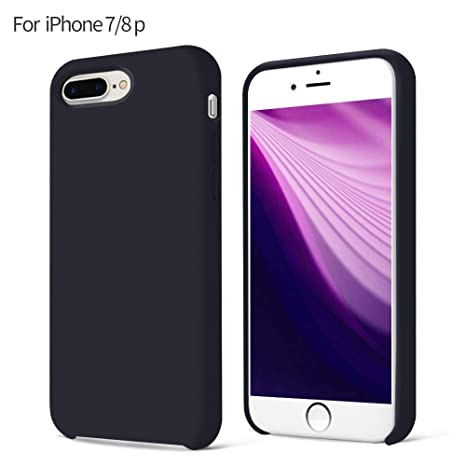 custodia iphone 8 silicone nera