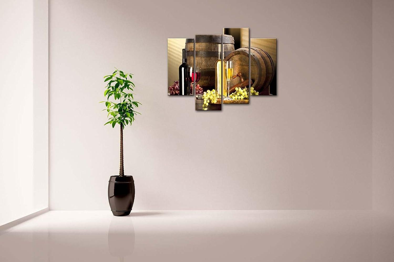 vario Vino Con Uva Pittura di arte della parete La stampa su tela di canapa Cibo Quadri dillustrazione per lufficio domestico Decorazione moderna