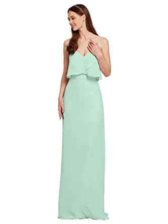 b8ba69e527 Image Unavailable. Image not available for. Color  AW Mint Green Dress Long Prom  Dresses Semi Formal Evening ...