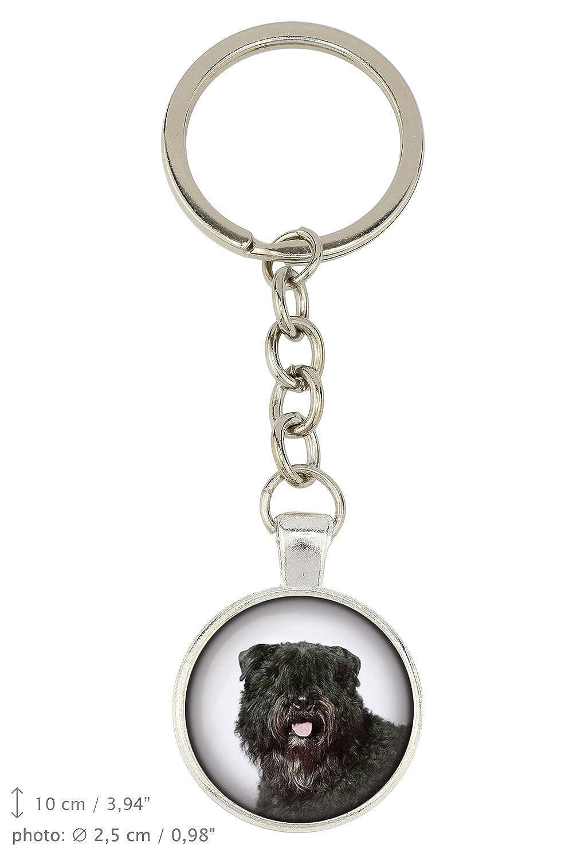Box Handmade Bouvier Photo-Jewelry Dog Pendant for Dog Lovers