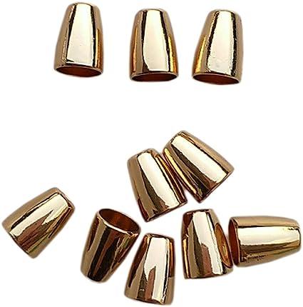 yotijar 60pcs Metallo Campana Conica Corda Corda Blocco Cavo Tappo Terminale Zaino Abbigliamento Stringa