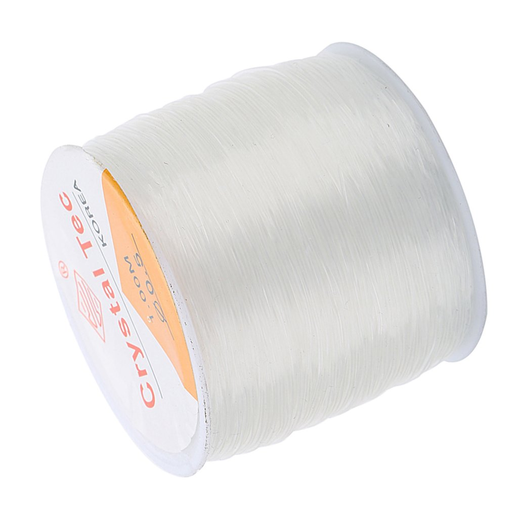 Homyl 1 Roll 100 Meter 0.8mm Strong /& Stretchy Cord Clear Crystal Elastic Thread Beading String for Craft Bracelet Necklace Making