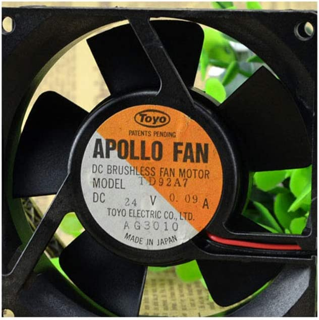 Cytom for New Apollo Fan TD92A7 24V 0.09A Inverter Cooling Silent Fan 2 line 2 Years Warranty
