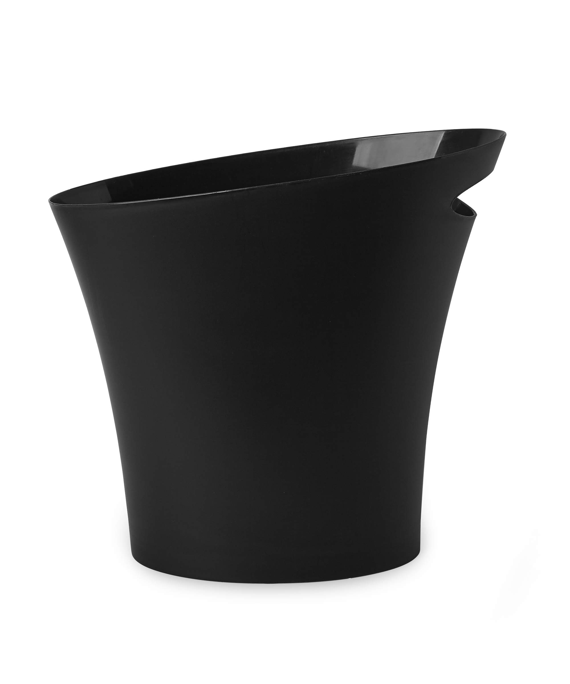 Umbra Skinny 5 FITS ALMOST ANYWHERE: A stylish trash can with a modern slim design that looks great and easily fits into narrow openings and odd spaces in your bathroom, bedroom or office CLEVER DESIGN: Despite its narrow profile, Skinny trash can hold up to 2 gallons and features an integrated handle for easy transport and disposal of contents making it an ideal trash can for bathroom DURABLE & EASY TO CLEAN: Made of super-strong polypropylene, Skinny trash cans are durable, easy to wipe clean with a damp cloth, and features a rounded bottom with no crevices for dirt, grime, or liquids to get trapped in