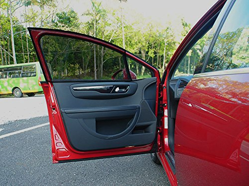 LiNKFOR 2 x Universal Car Front Window Sun Shade Cover / Double mesh layer Sunshades / Provides Max UV Protection Black Mesh